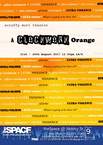 Clockwork Orange Flyer A6 flyer
